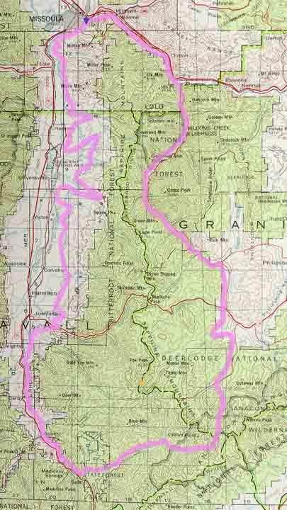 Sapphire Mountains Montana Map.Sapphire Mountains