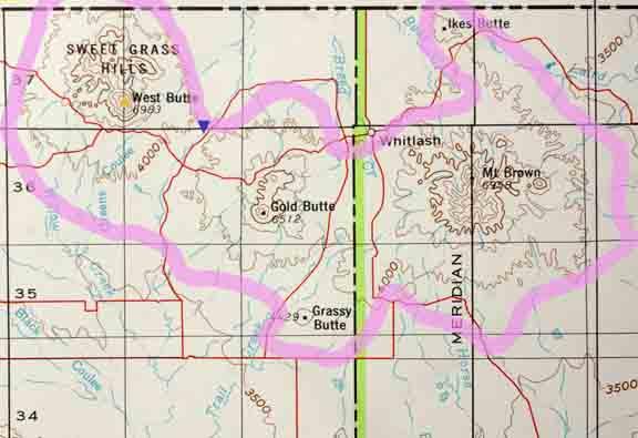 sweetgrass hills montana map Sweetgrass Hills